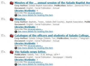 "Partial list of WorldCat search results for ""Salado Texas"" between 1860-1920."