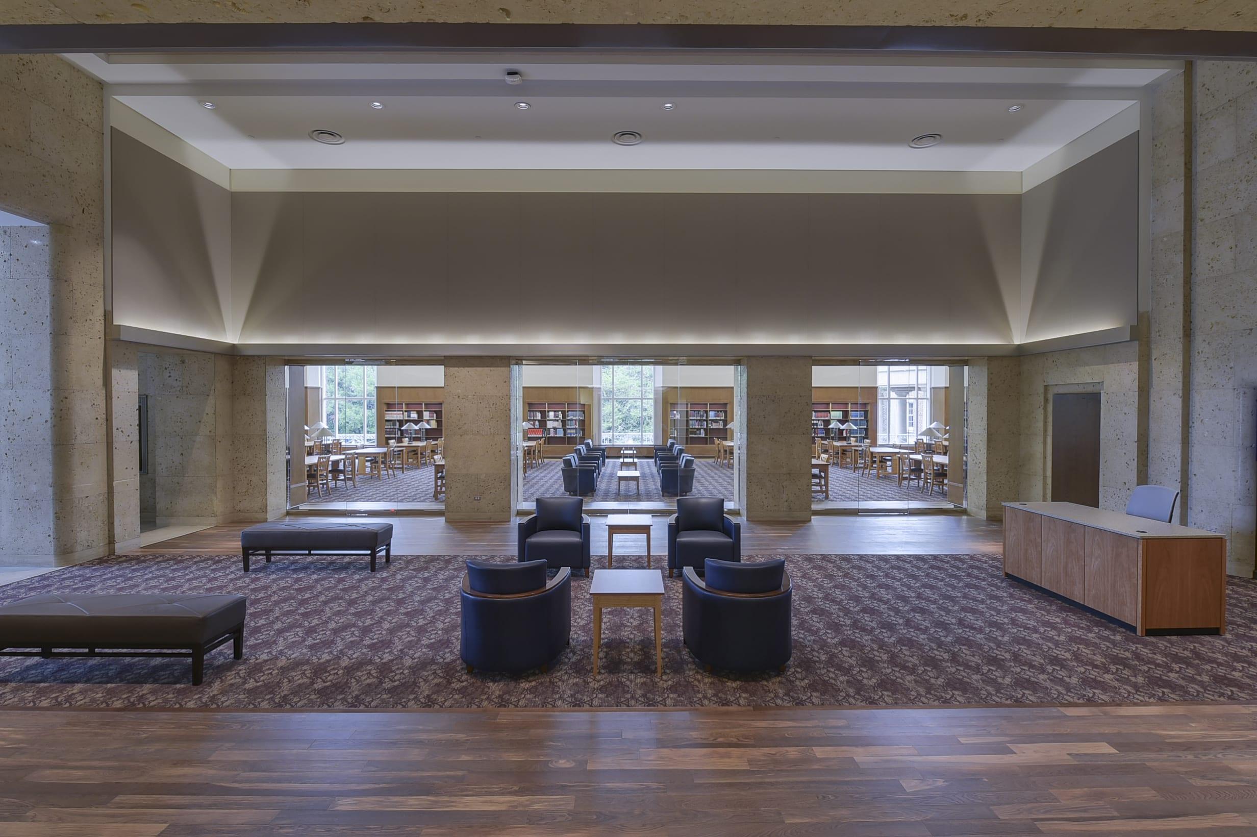 Open Foyer University : Fondren centennial reading room now open central