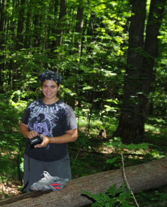 Sara Smith in Mahon Woods.