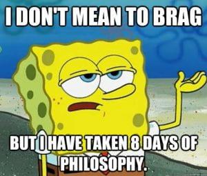 SpongeBob took 8 Days of Philosophy