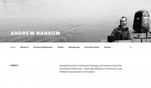 Example of student ePortfolio from Andrew Ransom