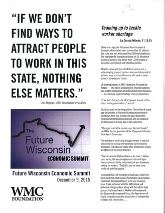 Future Wisconsin Economic Summit (WMC Foundation; December 9, 2015)
