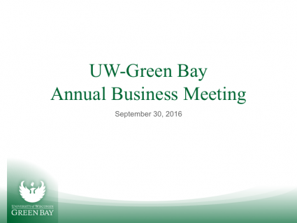UW-Green Bay Annual Business Meeting