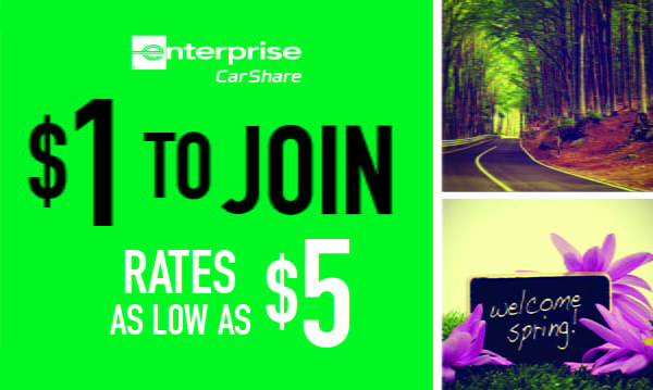 Join Campus Car Share for $1 – Spring Promotion
