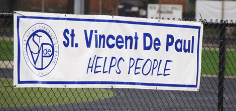 Banner of St. Vincent De Paul