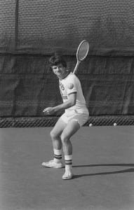 UWGB Men's tennis team player, ca. 1970-1979.
