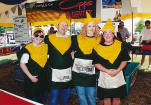 Alumni corn tent at Bayfest TBT
