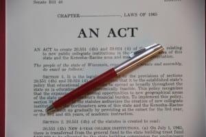 Closeup of pen, SB 48