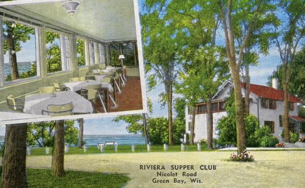 Rivera Supper Club postcard TBT