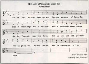 UWGB Alma Mater Sheet Music