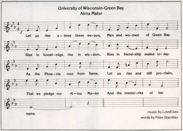 UWGB Alma Mater Sheet Music