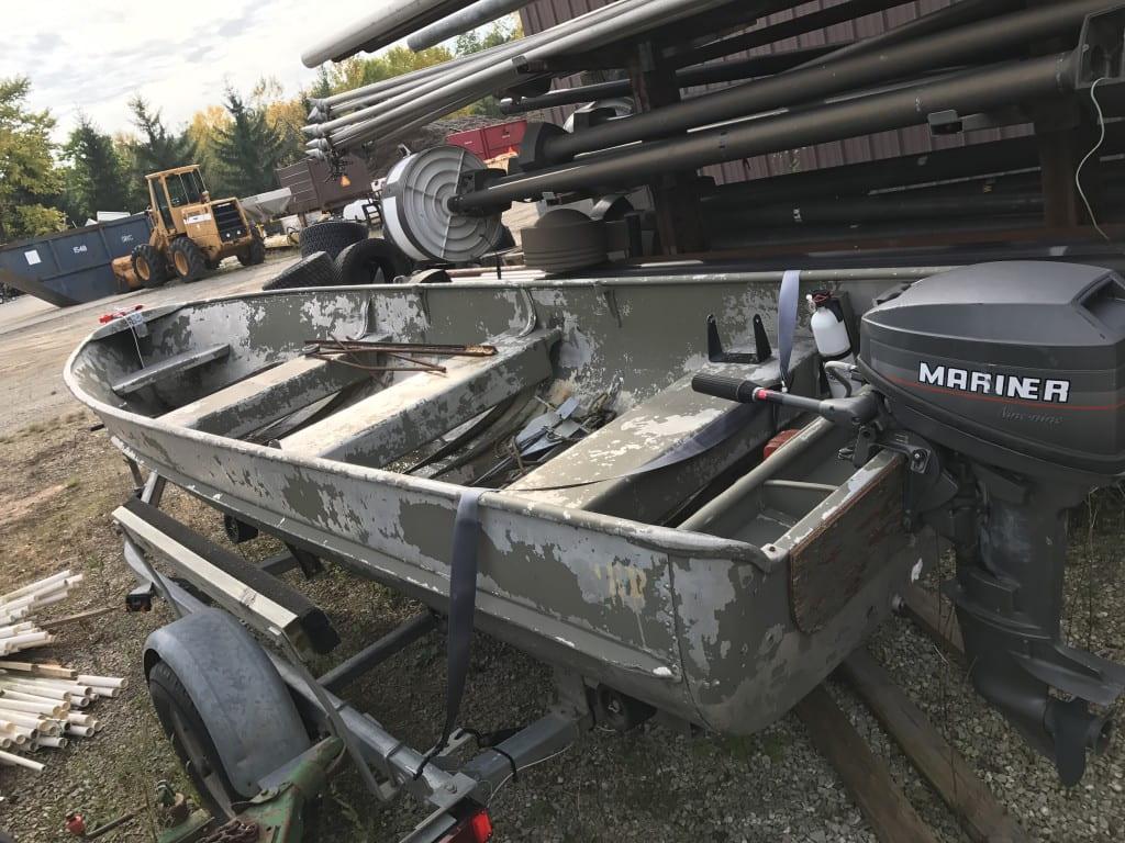 16 ft aluminum row boat