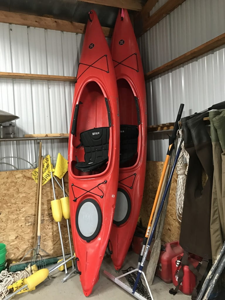 2 15 ft perception Kayaks for small lake, stream, and river work