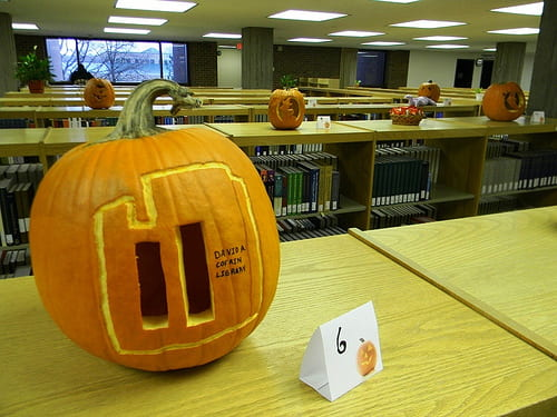 Cofrin Library as a Pumpkin