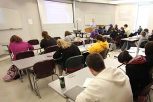 wide classroom shot