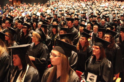 Video: sights and sounds of December commencement