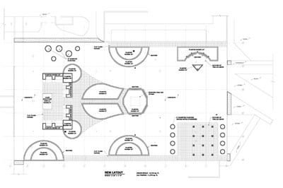 Student Services Building roof plaza layout