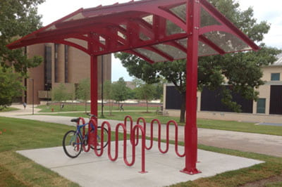 Ride on: Bike rack is first project of UW-Green Bay Sustainability Fund