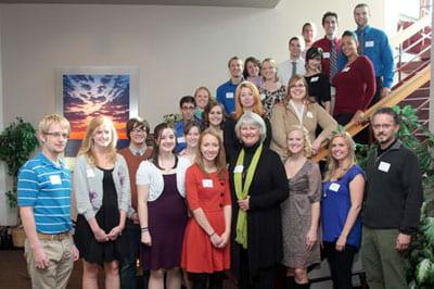 Named Scholarship Reception, Oct. 5, 2012