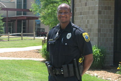 Solomon Ayres, patrol officer for the city of Green Bay