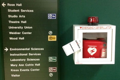 AED devices on campus