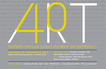 UW-Green Bay, Annual Juried Student Art Exhibition
