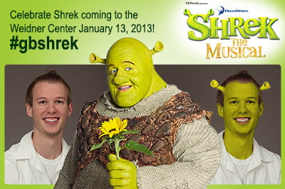 Show us your Shrek! Campus goes green … with ogre ears