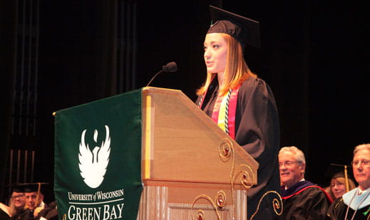 Lauren Caruso, graduating class speaker