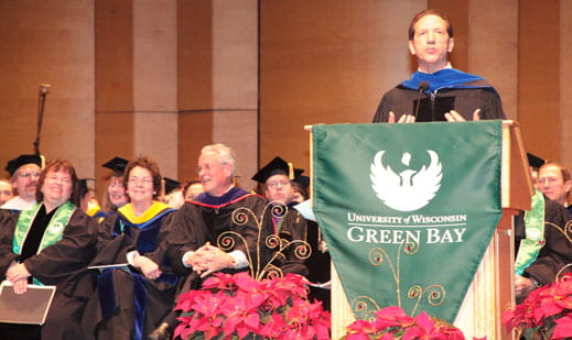 UW-Green Bay Commencement, Frederick Heide, speaker