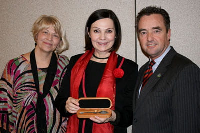 Lubomira Slusna awarded key to the city of Green Bay