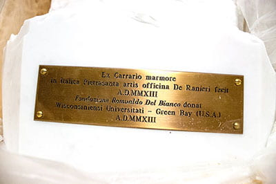 Benvenuto! Chiseled Da Vinci finds home at UW-Green Bay