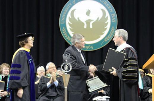 Chancellor's Award recipient, Steve Dhein