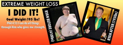 Ryan Sawlsville, Extreme Weight Loss