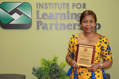 Juliet Cole receives educational award of honor in Nigeria