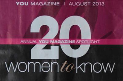YOU Magazine, 20 Women to Know