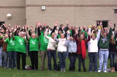 UWGB faculty-staff-students celebrate