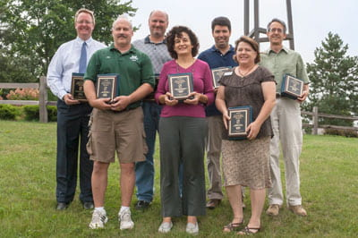 UW-Green Bay 2013 Founders Awards recipients