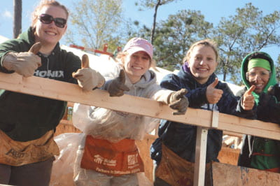 Habitat for Humanity, student trip