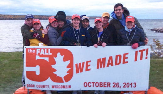 Door County Fall 50 Run, UWGB teams
