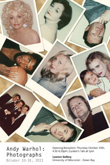 Lawton Gallery, Warhol photographs exhibit