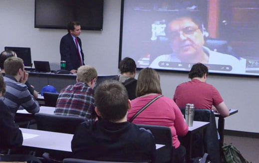 Modern Latin America history class speaks with former Vice President of Nicaragua