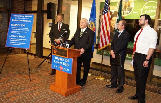 Legislators stump for 'High Ed, Lower Debt' bill