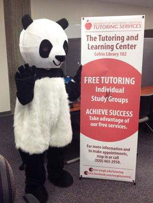 Halloween spirit at the Tutoring and Learning Center