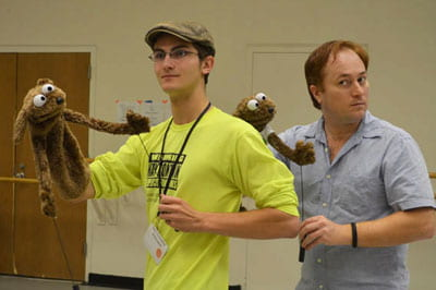 Professional puppeteer prepares UW-Green Bay students for 'Avenue Q'