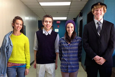 In literary fashion, Sheepshead students dress up to address the competition