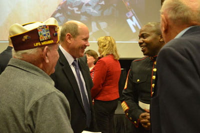 Reception honors UW-Green Bay, community veterans