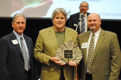 Go Green: Linzmeyer receives UW-Green Bay's Earth Caretaker Award