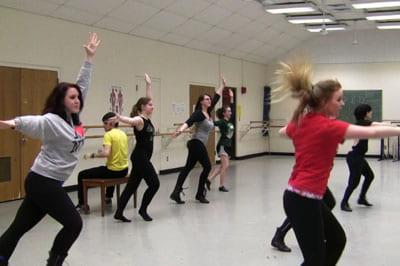 DanceWorks concert rehearsal