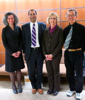 Arjun Sanga and UWGB faculty