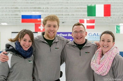 UW-Green Bay curling championship team